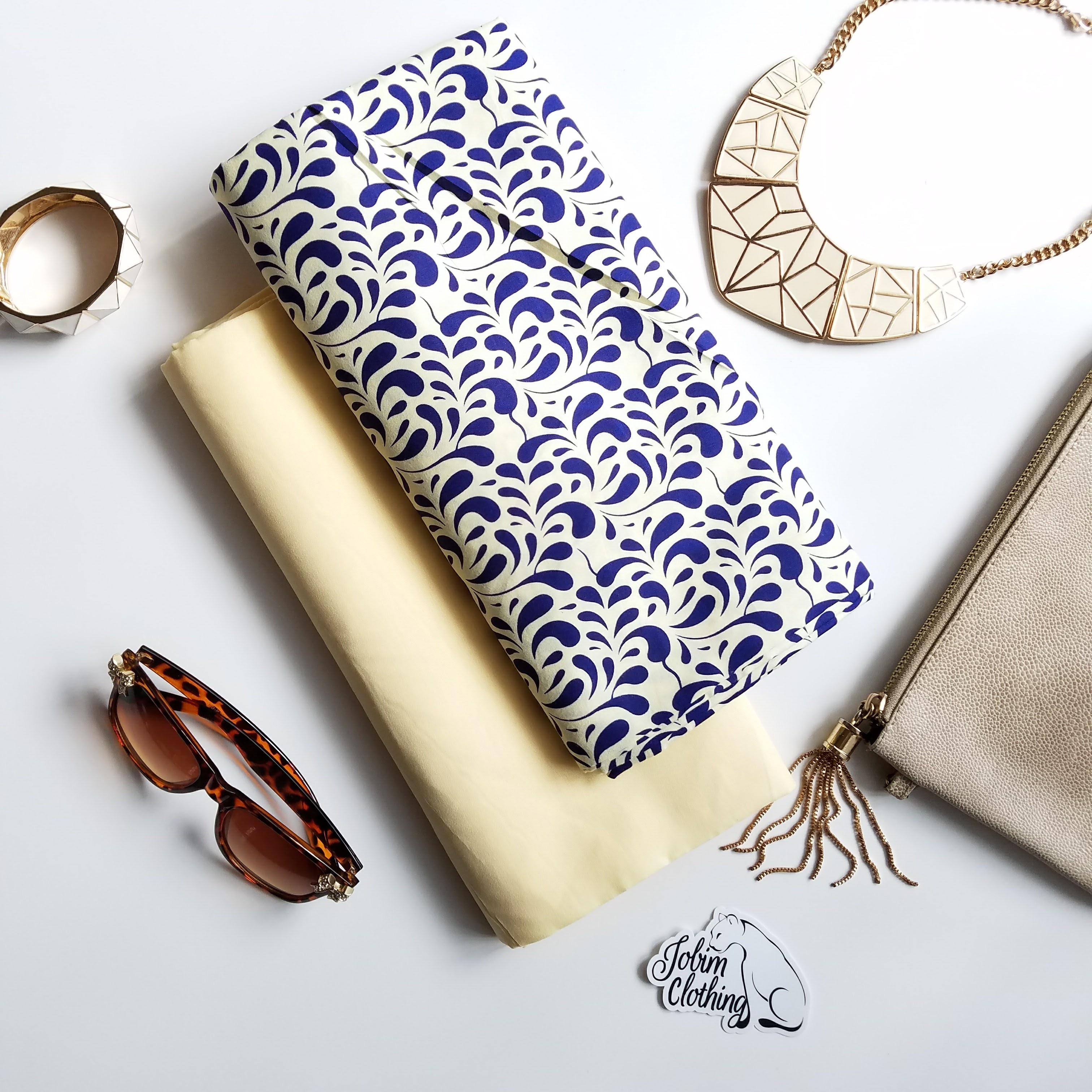Jobim Clothing Blue and White Ankara Fabric