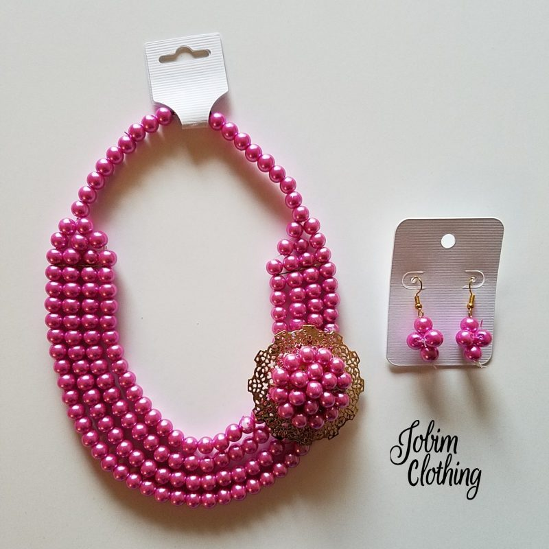 Jobim Clothing Jewelry Set Pink