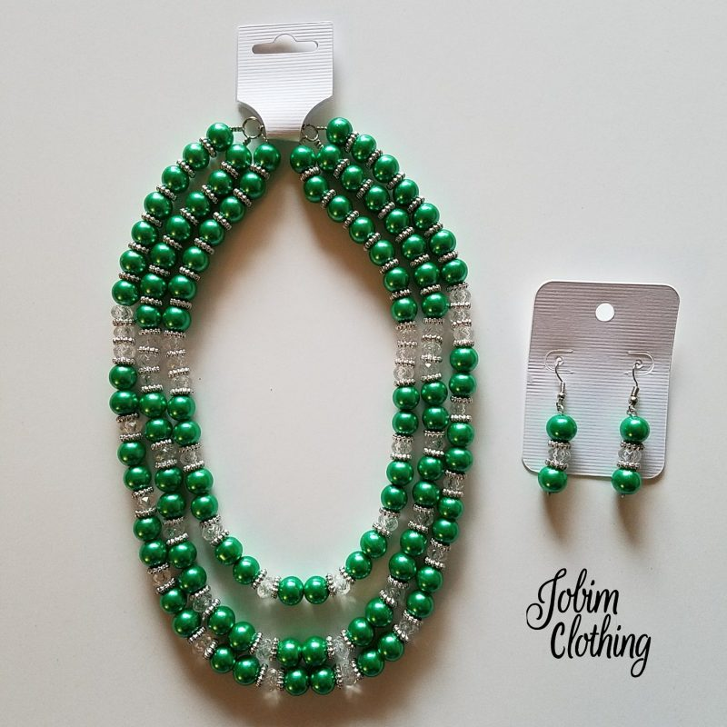 Jobim Clothing Jewelry Set Green