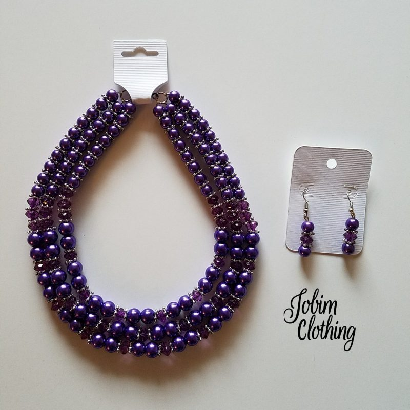Jobim Clothing Jewelry Set Purple