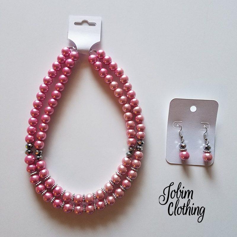 Jobim Clothing Jewelry Set Pink