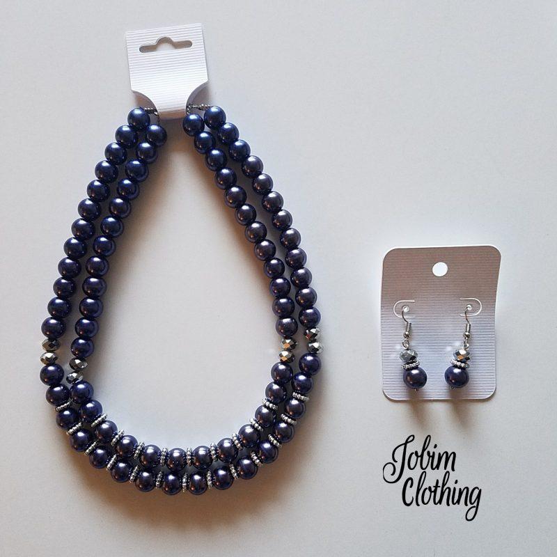 Jobim Clothing Jewelry Set Purple