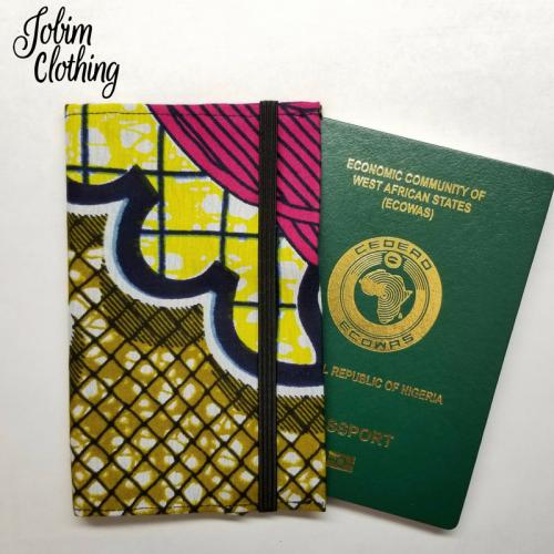 Jobim Clothing Passport Cover - Pink Yellow