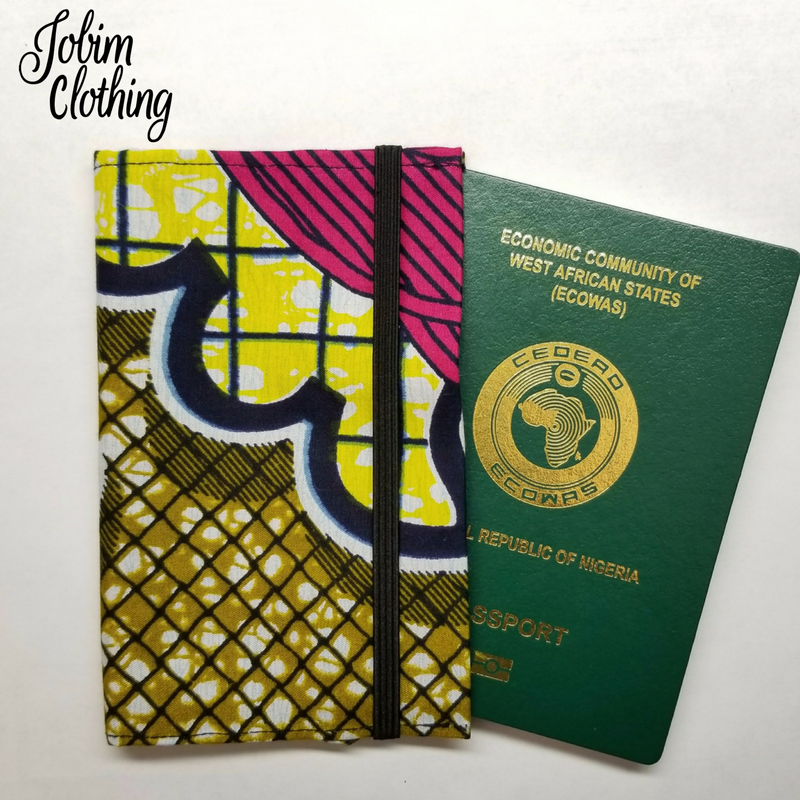 Jobim Clothing Passport Cover - Pink Yellow