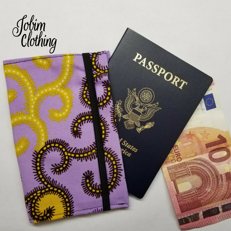 Jobim Clothing Passport Cover - Purple Yellow