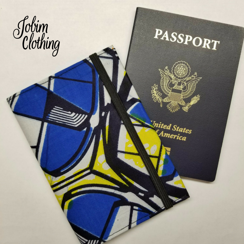 Jobim Clothing Passport Cover - Yellow Blue