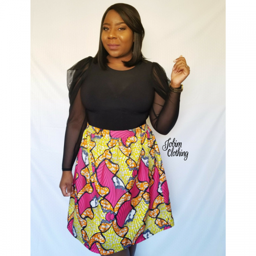 Lawretta Skirt - Pink - Jobim Clothing