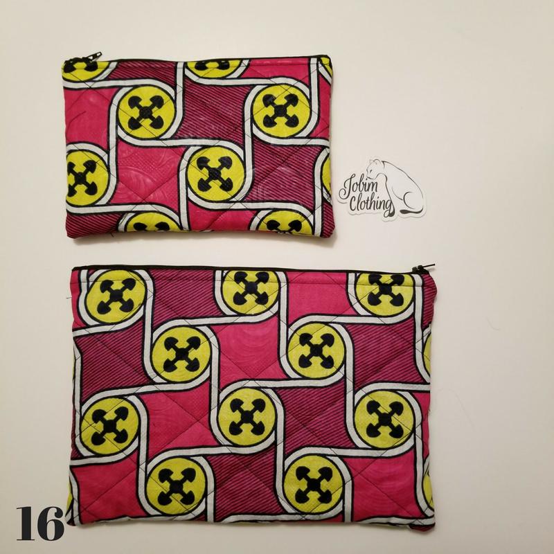 African Print Makeup Bag - Set - Jobim Clothing