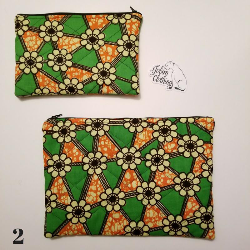 African Print Makeup Bag - Set 2 - Jobim Clothing