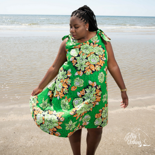 Effia Dress - Green - Jobim Clothing