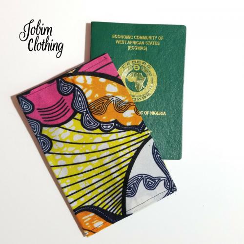 Jobim Clothing Passport Cover - Pink Yellow Orange