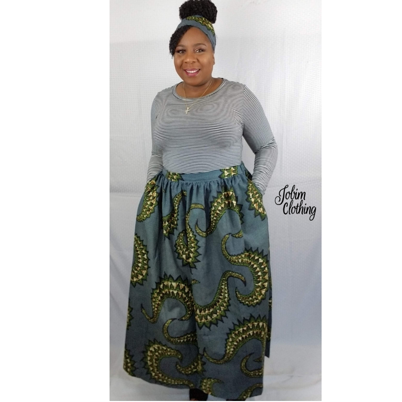 Josephine Skirt - Blue - Jobim Clothing
