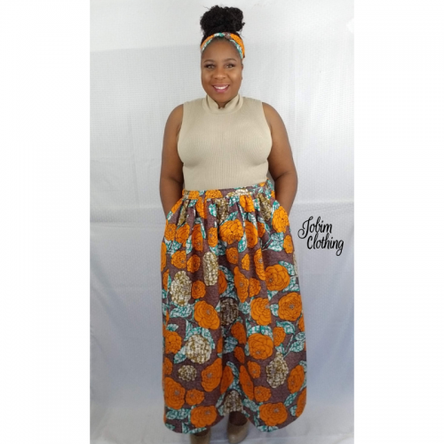 Josephine Skirt - Orange - Jobim Clothing