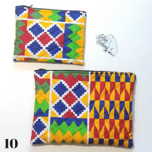 African Print Makeup Bag Set - Jobim Clothing